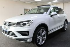 VOLKSWAGEN TOUAREG V6 R-LINE PLUS TDI BLUEMOTION TECHNOLOGY+ 1 OWNER FROM NEW + ST TROPEZ NAPPA LEATHER + IMMACULATE + WHITE LEATHER +  - 1713 - 5